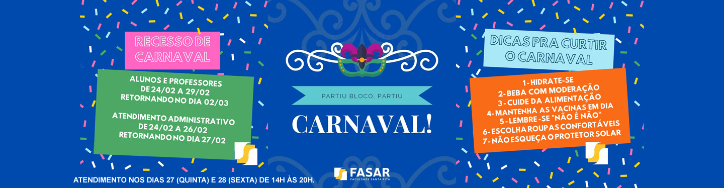 Banner Carnaval 2020 recesso