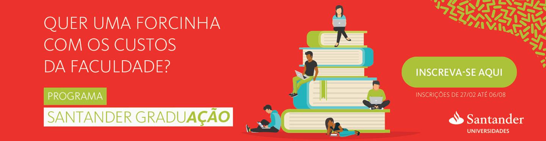 Programa de Bolsas Nacionais do Santander Universidades/FASAR 2018-1