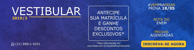 Banner Vestibular 2019 - 2 Abertas
