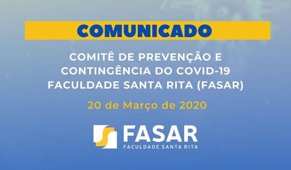 COMUNICADO FASAR 20-03-2020 - Atividades remotas com o uso das tecnologias