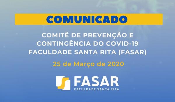 Comunicado FASAR 25-03-2020